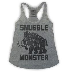 Snuggle Monster Womens Tank Grey