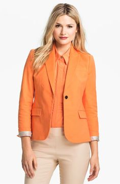 Vince Camuto One Button Blazer (Petite) available at #Nordstrom