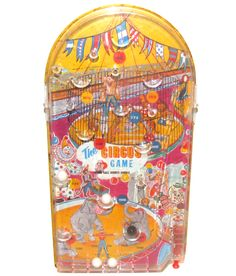 Vintage Wolverine The Circus Game Pinball Toy Marble Game