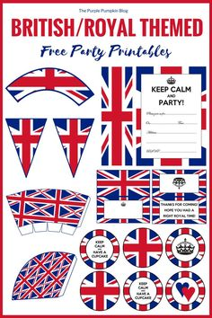 Wedding Printables In 2020 Post Royal Wedding Printables Free British Royal Party Of 94 Best Wedding Printables In 2020 London Theme Parties, British Themed Parties, Uk Parties, British Party, London Party, Dinner Parties, Tea Party Decorations, Party Themes, Party Ideas