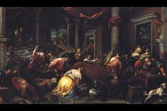 Christ Drives The Money Changers From The Temple, by Jacopo Bassano