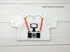 Baby Photographer's Assistant Camera Onesie