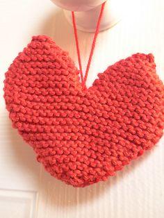 cute knitted heart