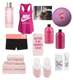 """Bath Time."" by catsthatdressup ❤ liked on Polyvore featuring beauty, philosophy, Victoria's Secret, NIKE and Kate Spade"