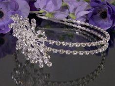 Double Wedding Headband / Side Tiara / Wedding