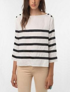 It is taking everything inside me not to purchase this perfect stripped shirt.