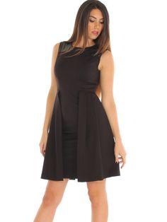 Stretch jersey casual evening dress with faux-leather insert http://www.luanaromizi.com/en/dresses-woman/stretch-jersey-casual-evening-dress-with-faux-leather-insert.html #Stretch #jersey #casual #eveningdress #fauxleatherinsert #madeinitaly #keydi #luanaromizi
