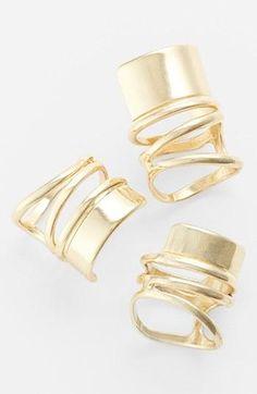 Gold spiral rings