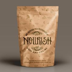 Logo design for Nourish Packaging World, Tea Packaging, Packaging Design, Packaging Ideas, Retro Design, Logo Design, Digital Drawing Tablet, Beer Label Design, Organic Company