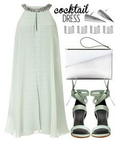 """Cocktail Dress"" by joslynaurora on Polyvore featuring moda, Adrianna Papell, Marni, TIBI, Maison Margiela, sandals y cocktaildress"