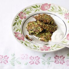 Courgette Fritters with Yoghurt Sauce
