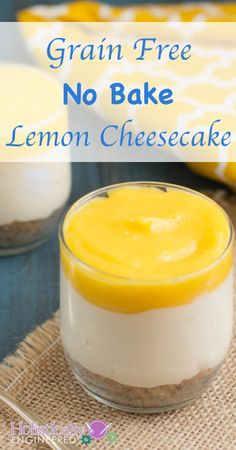 Grain Free No Bake Lemon Cheesecake | holisticallyengineered.com #grainfree #glutenfree #primal #lowcarb