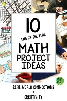 10 End of Year Math Projects The end of the school year is the perfect time to incorporate real world math and engaging activities. I love using projects to keep students focused the last few weeks of school. Google Classroom, Math Classroom, Classroom Setup, Classroom Organization, 8th Grade Math Worksheets, 7th Grade Math, Sixth Grade, Second Grade, Math Stations