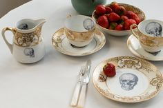 Sipping pretty-Melody Rose has created a tea set we'd be happy to sit down and sip from.