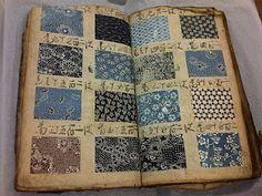 vintage pattern book, full of stencil patterns for kimono fabrics