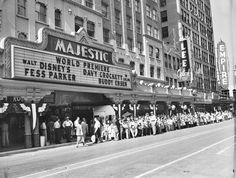 MAJESTIC THEATRE - San Antonio, TX - World Premiere of 'Davy Crockett, King of the Wild Frontier' - 1955.