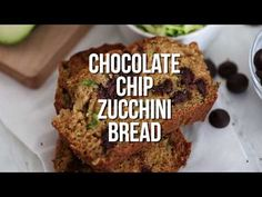 Moist Chocolate Chip Zucchini Bread loaded with chocolate chips! You only need one bowl to make this healthy & delicious version of the classic recipe.