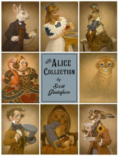 The Alice Collection! — The Art of Scott Gustafson Lewis Carroll, Alice In Wonderland Illustrations, Go Ask Alice, Chesire Cat, Classic Fairy Tales, The Night Before Christmas, Bedtime Stories, Queen Of Hearts, Nursery Rhymes