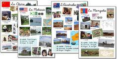 projet Tour du monde Kids Around The World, Around The Worlds, Montessori, Flags Europe, Kids Homework, Les Continents, Cycle 2, World Traveler, Social Studies