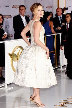 Jennifer Lawrence attends the premiere of 'The Hunger Games: Mockingjay - Part 1' (November 17, 2014 in Los Angeles, California