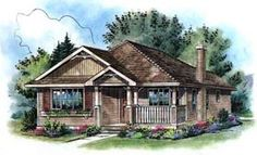 Elevation of Contemporary   House Plan 58505