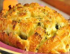 Pão italiano recheado com queijo - Ideal Receitas