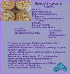 Christmas Candy, Christmas Baking, Christmas Cookies, Xmas, Czech Recipes, Baking Recipes, Almond, Food And Drink, Sweets