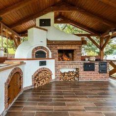 Backyard Kitchen, Outdoor Kitchen Design, Outdoor Kitchens, Basic Kitchen, Summer Kitchen, Kitchen Post, Minimalist Kitchen, Pavillion, Building A New Home