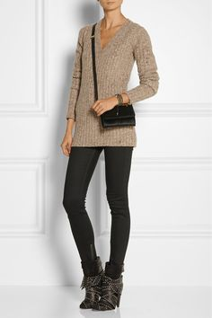 Isabel Marant | Aleen belted leather and suede ankle boots | NET-A-PORTER.COM