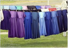 Softy muted color of Amish dresses.  There is something fascinating and comforting about the Amish way of life.