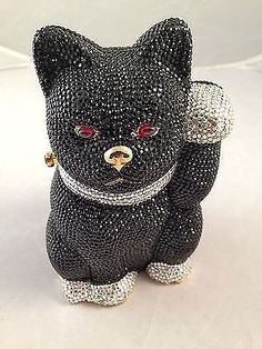 Judith-Leiber-Handbag-Vintage-Lucky-Black-Cat-with-Ruby-Colored-Eyes