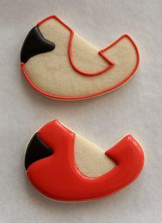 Decorated Cardinal Cookies
