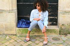 A l'arrivée du printemps, je vous propose un look en duo en 2 styles différents avec la pièce tendance et phare de la saison: la veste en jeans.
