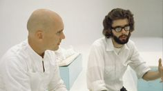 "George Lucas and Robert Duvall on the set of ""THX1138"" (1971). // Tags: #Film #Cine #Lucas"