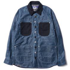 Style: Junya Watanabe MAN x Seil Marschall - Reversible Paraffin Shirt Jacket | KicksOnFire.com