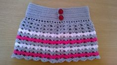 Crochet Girls, Crochet For Kids, Crochet Baby, Crochet Top, Crochet Skirt Pattern, Crochet Patterns, Baby Dress Patterns, Crochet Purses, Crochet Clothes
