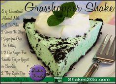 Grasshopper Shake - Diabetic Friendly! http://Shakes2Go.com