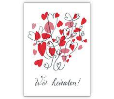 Romantische Hochzeitsanzeige mit viel Herz: Wir heiraten - http://www.1agrusskarten.de/shop/romantische-hochzeitsanzeige-mit-viel-herz-wir-heiraten/    00024_0_2869, Anzeige, Anzeigenkarten, Brautpaar, Einladung, Einladungskarte, Grusskarte, Hochzeit, Klappkarte00024_0_2869, Anzeige, Anzeigenkarten, Brautpaar, Einladung, Einladungskarte, Grusskarte, Hochzeit, Klappkarte