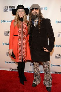 "Sheri Zombie and Rob Zombie attend ""Howard Stern's Birthday Bash"" presented by SiriusXM, produced by Howard Stern Productions at Hammerstein Ballroom on January 31, 2014 in New York City."