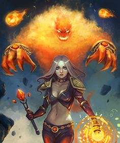 Fire mage by RinaCane.deviantart.com on @DeviantArt