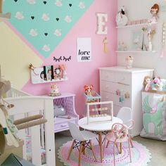 Habitación de niña en colores originales - Minimoi (@fee_loves_)