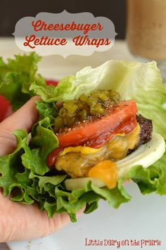 Cheeseburger Lettuce Wraps! I'm in love with these things!  Little Dairy on the Prairie