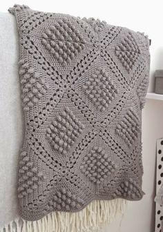 67 Ideas For Crochet Blanket Stitch Pattern Baby Afghans Plaid Crochet, Stitch Crochet, Crochet Diy, Manta Crochet, Crochet Home, Crochet Motif, Crochet Crafts, Bobble Crochet, Crochet Stitches For Blankets