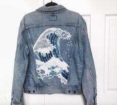 Custom sequined wave jacket