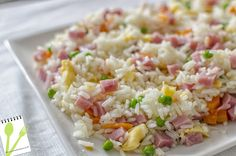 MUCHASRECETASDECOCINA: Arroz 3 Delicias #recetas #videorecetas #arroz #recipes #rice
