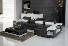 Pinciano Italian Leather Sectional