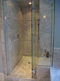 Penny round tile on shower walls | Tile Jobs We've Done ...