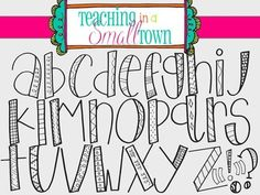 This alpha set includes two sets 26 hand drawn letters and 5 punctuation marks. The first set is a clear fill while the Doodle Alphabet, Hand Lettering Alphabet, Doodle Lettering, Creative Lettering, Fun Fonts Alphabet, Handwriting Fonts Alphabet, Calligraphy Letters, Cool Handwriting, Lettering Styles Alphabet
