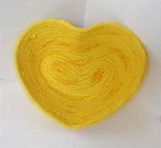 Itty Bitty Bright Yellow Heart Bowl by PiecefulDesign on Etsy, $8.00