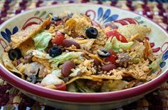 Try this easy Taco Salad. It's perfect for those summer days when it's too hot to crank up the oven, but you still need a dinner meal.